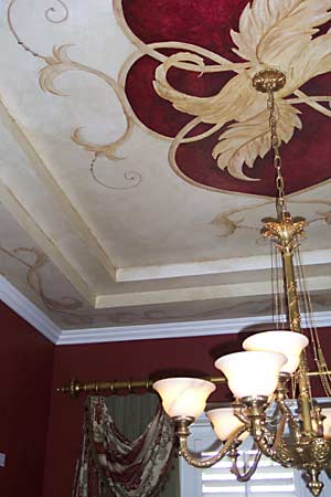 Decorative Painted ceiling, murals,  fresco, faux finishes